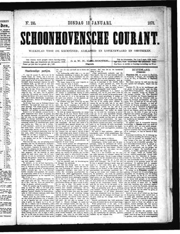 Schoonhovensche Courant 1873-01-12