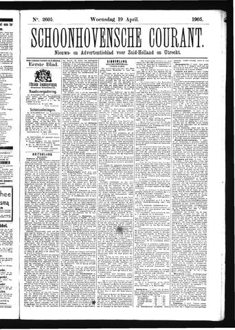 Schoonhovensche Courant 1905-04-19