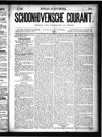 Schoonhovensche Courant 1876-11-12