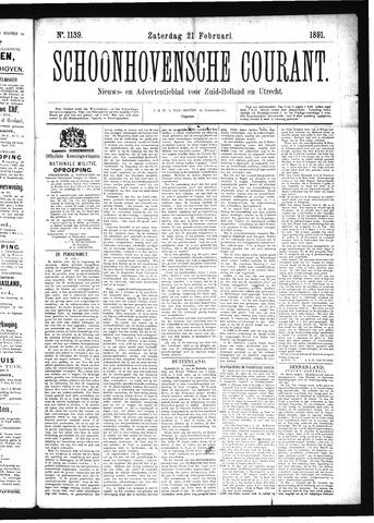 Schoonhovensche Courant 1891-02-21