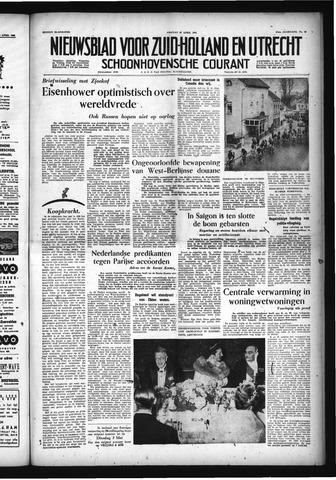 Schoonhovensche Courant 1955-04-29