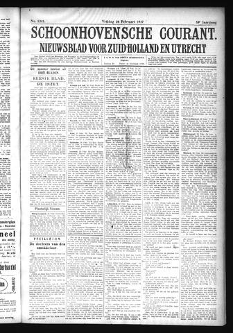 Schoonhovensche Courant 1927-02-25