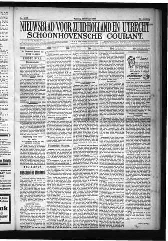 Schoonhovensche Courant 1929-02-18