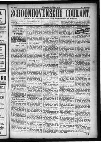 Schoonhovensche Courant 1923-03-28