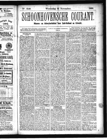 Schoonhovensche Courant 1900-11-21