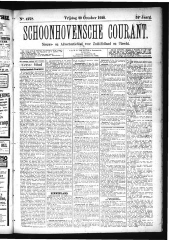 Schoonhovensche Courant 1920-10-29