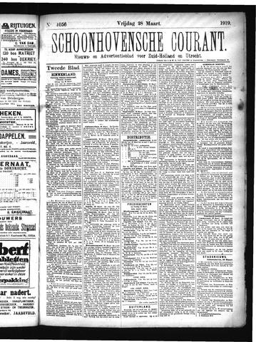 Schoonhovensche Courant 1919-03-28