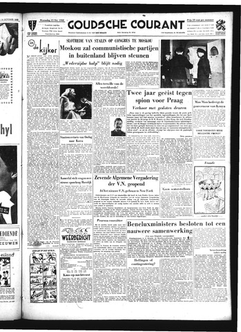 Goudsche Courant 1952-10-15