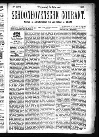 Schoonhovensche Courant 1900-02-28