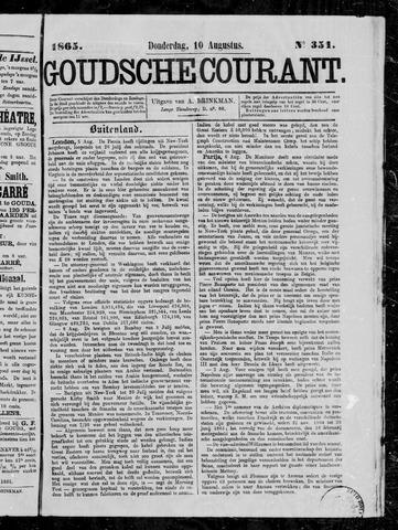 Goudsche Courant 1865-08-10