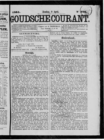 Goudsche Courant 1865-04-09