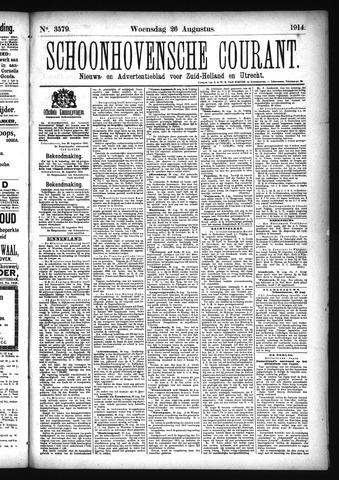 Schoonhovensche Courant 1914-08-26