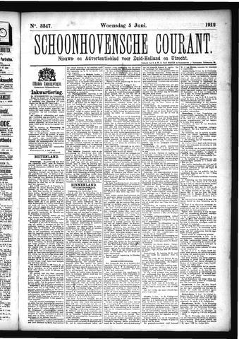 Schoonhovensche Courant 1912-06-05
