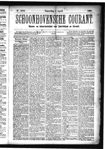 Schoonhovensche Courant 1898-04-09