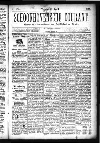 Schoonhovensche Courant 1916-04-28