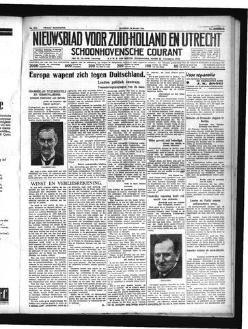 Schoonhovensche Courant 1939-03-20
