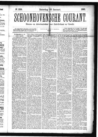 Schoonhovensche Courant 1893-01-28
