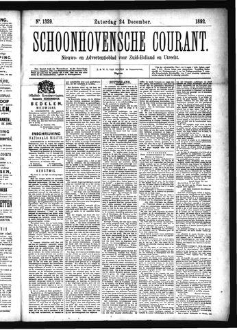 Schoonhovensche Courant 1892-12-24