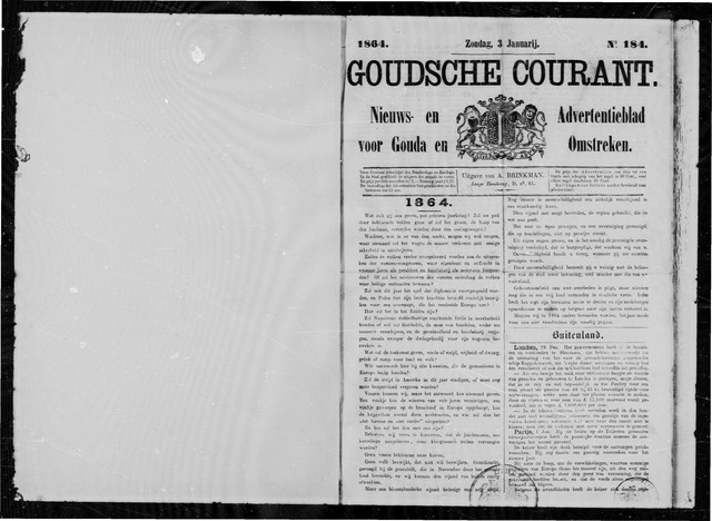 Goudsche Courant 1864