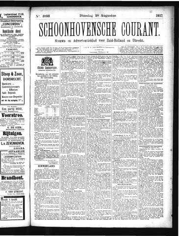 Schoonhovensche Courant 1917-08-28