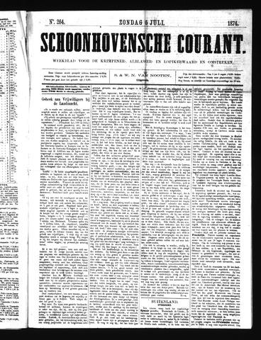 Schoonhovensche Courant 1874-07-05