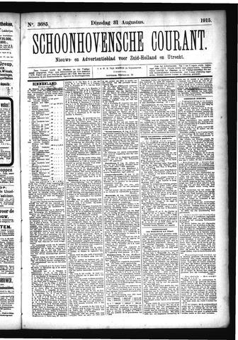 Schoonhovensche Courant 1915-08-31