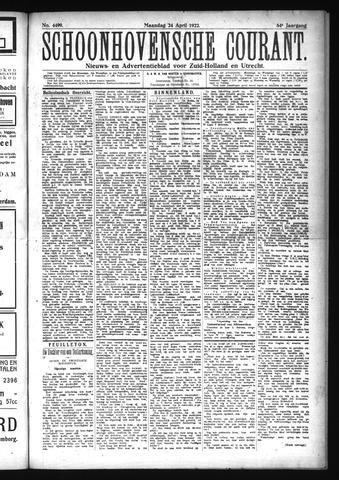 Schoonhovensche Courant 1922-04-24