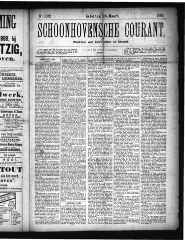 Schoonhovensche Courant 1889-03-23