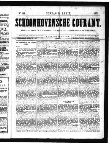 Schoonhovensche Courant 1872-04-28