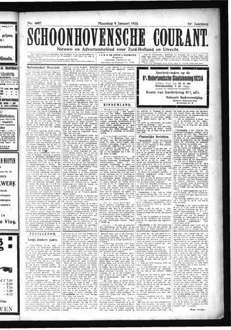 Schoonhovensche Courant 1923-01-08