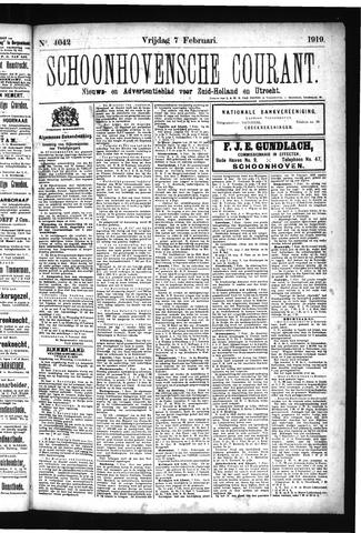 Schoonhovensche Courant 1919-02-07