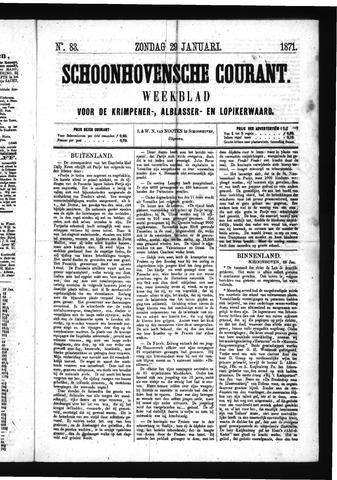 Schoonhovensche Courant 1871-01-29