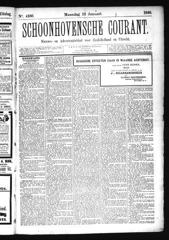 Schoonhovensche Courant 1920-01-12