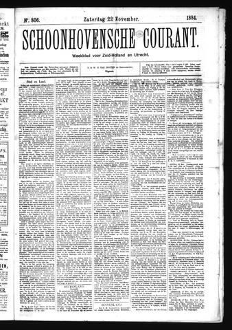 Schoonhovensche Courant 1884-11-22