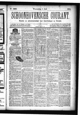 Schoonhovensche Courant 1914-07-01