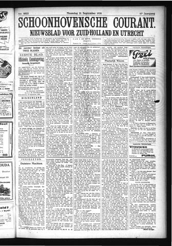 Schoonhovensche Courant 1925-09-21