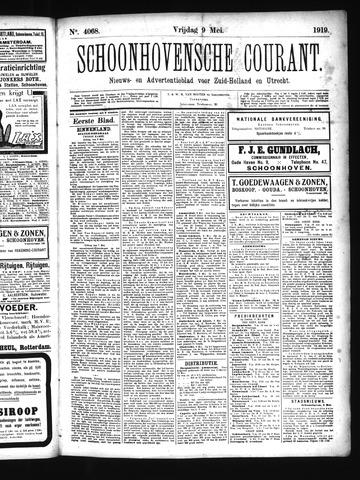 Schoonhovensche Courant 1919-05-09