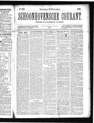 Schoonhovensche Courant 1890-11-22