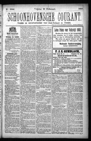 Schoonhovensche Courant 1918-02-22