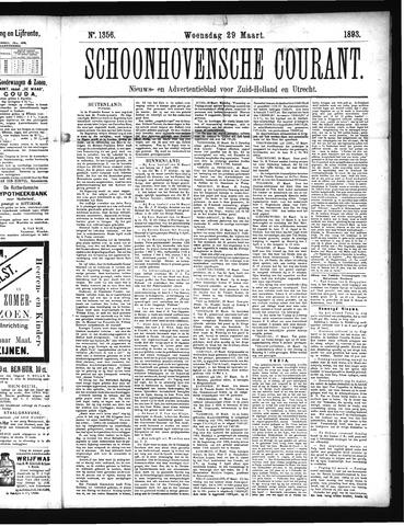 Schoonhovensche Courant 1893-03-29