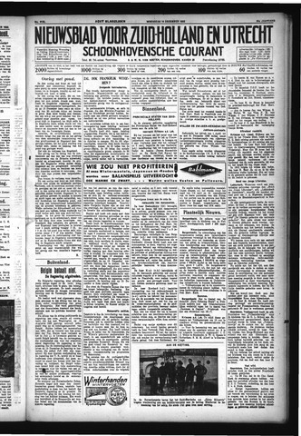 Schoonhovensche Courant 1932-12-14