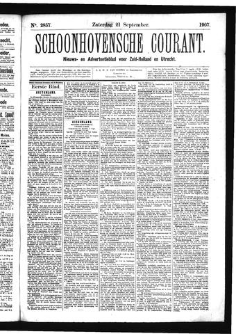 Schoonhovensche Courant 1907-09-21