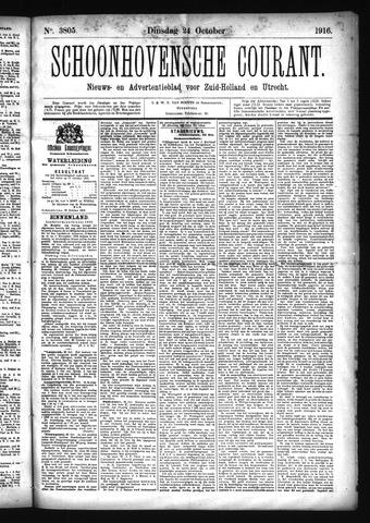 Schoonhovensche Courant 1916-10-24