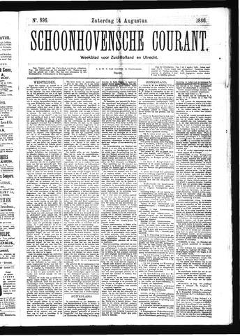 Schoonhovensche Courant 1886-08-14