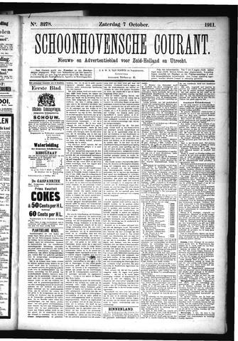 Schoonhovensche Courant 1911-10-07