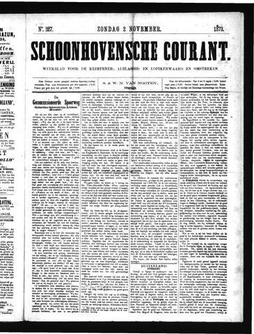Schoonhovensche Courant 1873-11-02