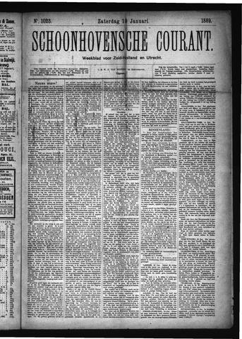 Schoonhovensche Courant 1889-01-19