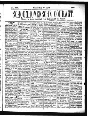 Schoonhovensche Courant 1908-04-29