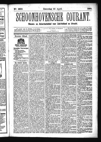 Schoonhovensche Courant 1908-04-25