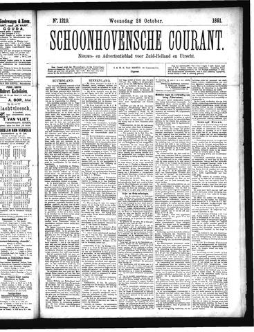 Schoonhovensche Courant 1891-10-28